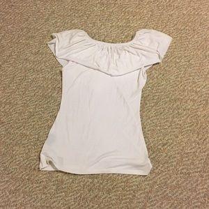yom yom Tops - White ruffle neck sleeveless top